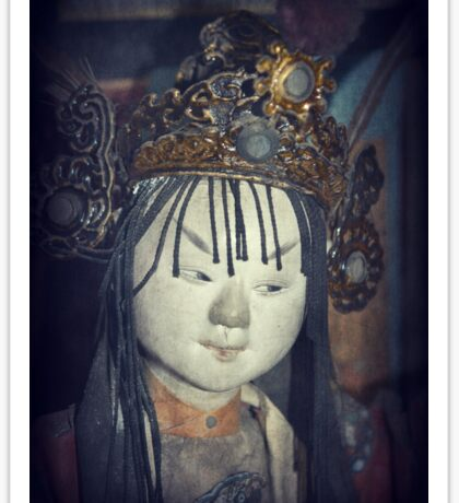 Traditional Wooden Chinese Doll Sticker
