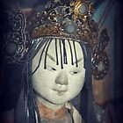 Traditional Wooden Chinese Doll by Alexandra Lavizzari