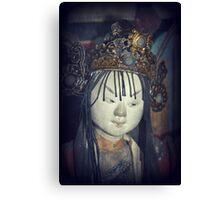 Traditional Wooden Chinese Doll Canvas Print