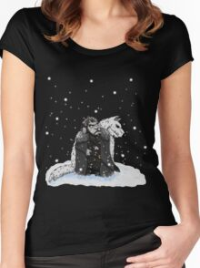 Sheep snow Women's Fitted Scoop T-Shirt