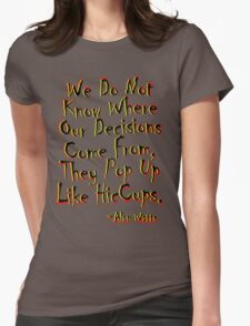 where do they come from ??? Womens Fitted T-Shirt