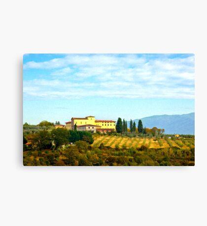 Tuscany hill Canvas Print