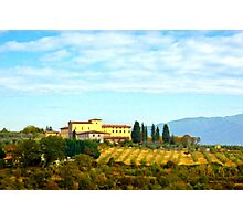 Tuscany hill Photographic Print