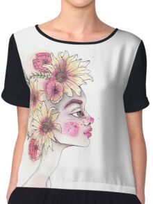 Flowers in your hair - Spring Portrait Chiffon Top