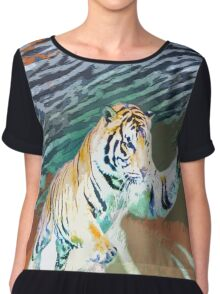 Tiger - Panthera Tigris Chiffon Top