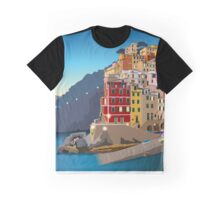 Riomaggiore at Sundown Graphic T-Shirt
