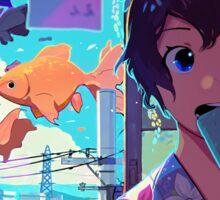 Anime Summer Time Girl Sticker