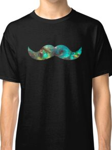 Green Galaxy Mustache Classic T-Shirt