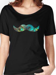 Green Galaxy Mustache Women's Relaxed Fit T-Shirt