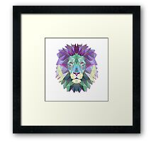Colorful Abstract Lion Framed Print