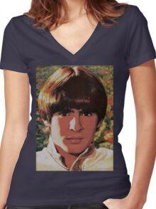 Davy Jones Women's Fitted V-Neck T-Shirt