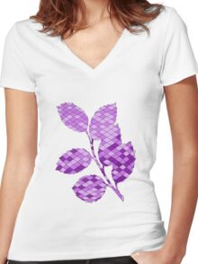 Holly branch Women's Fitted V-Neck T-Shirt
