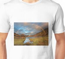 Wasdale and Wastwater Rainbow in the English Lake District Unisex T-Shirt