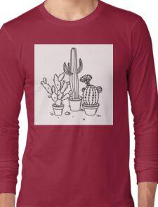 Hand Drawn Cacti Long Sleeve T-Shirt