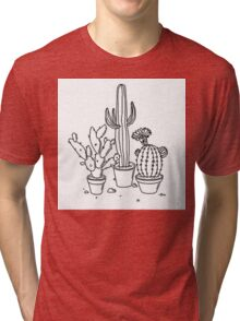 Hand Drawn Cacti Tri-blend T-Shirt