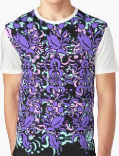 Floral Multi Layer Pattern - Purple Shades Graphic T-Shirt