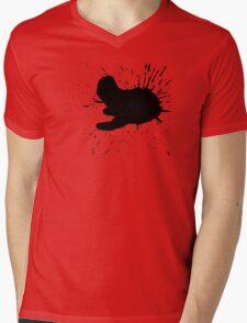 Black Ink Mens V-Neck T-Shirt