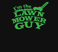 I;m the LAWNMOWER guy! with mower in green Womens Fitted T-Shirt
