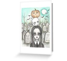 wednesday in the graveyard Greeting Card