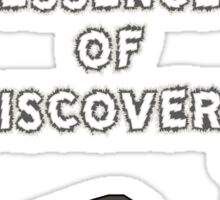Imagination is the essence of discovery Sticker