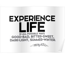 experience life in all possible ways - osho Poster
