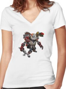 DOTA 2 - Clockwerk Women's Fitted V-Neck T-Shirt