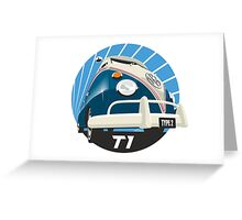 VW Type 2 Transporter T1 blue Greeting Card
