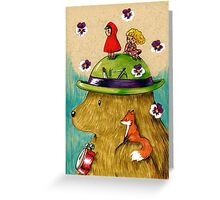 Bear Travels Greeting Card