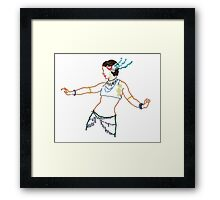Tribal Fusion Dancer with Jewelry and Headdress Framed Print