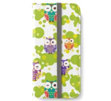 Colourful owls iPhone Wallet/Case/Skin