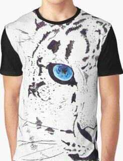 Snow Tiger Animal Illustration Painting Graphic T-Shirt