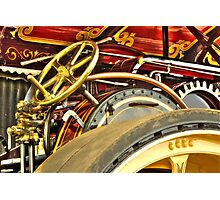 Traction engine steering mechanism Photographic Print