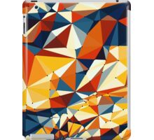 Net of multicolored triangles iPad Case/Skin