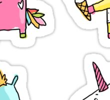 Unicorn and ice cream Sticker