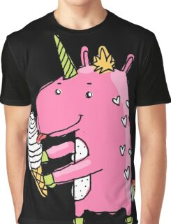 Unicorn and ice cream Graphic T-Shirt