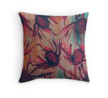 Autumn Thistle Throw Pillow