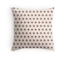 Liquorice Allsorts Striped Pattern Throw Pillow