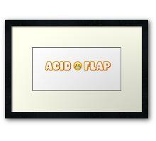 Acid Flap Framed Print