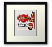 Samcro Beer Coaster Framed Print