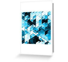 Crystal Confusion - Blue Greeting Card