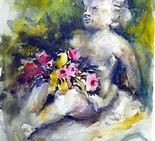 Statue with flowers by Ivana Pinaffo