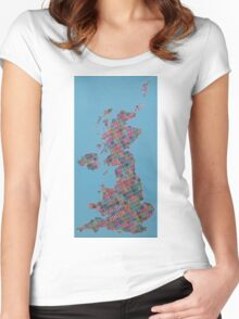 Anywhere in the UK for the price of a stamp Women's Fitted Scoop T-Shirt