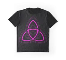 Black and Pink Triple Trefoil Graphic T-Shirt