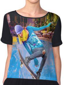 Skateboarding on Water Chiffon Top