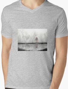 Winter Mens V-Neck T-Shirt