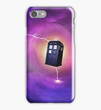 TARDIS IN A BLACK HOLE iPhone Case/Skin