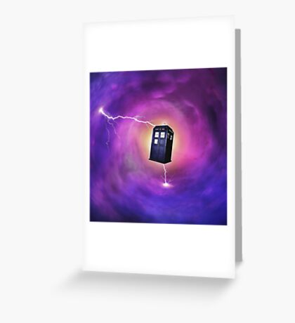 TARDIS IN A BLACK HOLE Greeting Card