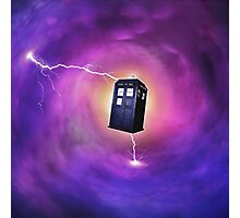 TARDIS IN A BLACK HOLE Photographic Print