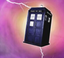 TARDIS IN A BLACK HOLE Sticker