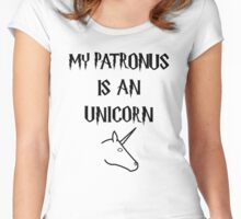 My patronus is an unicorn Women's Fitted Scoop T-Shirt